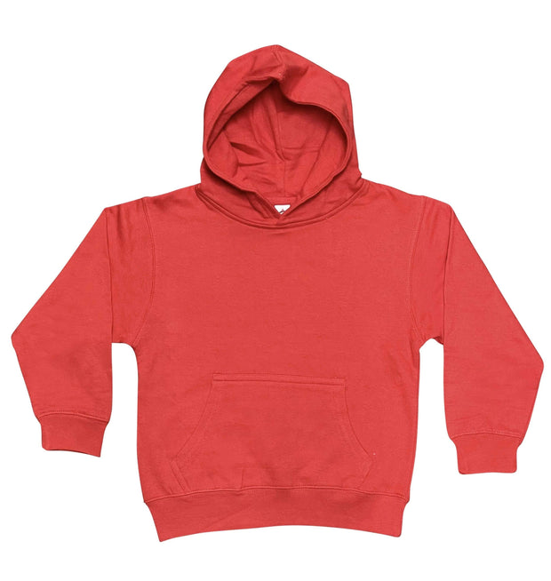 ILTEX Apparel Kids Clothing Red / Y-Small Youth Comfort Plain Pullover Hoodie