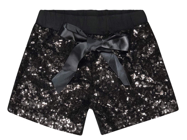ILTEX Apparel Kids Clothing Sequin Shorts Kids - Black