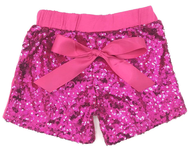 ILTEX Apparel Kids Clothing Sequin Shorts Kids - Hot Pink