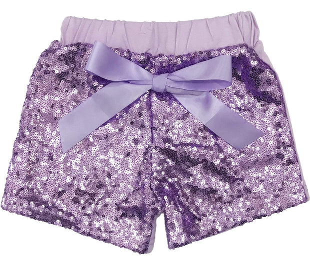 ILTEX Apparel Kids Clothing Sequin Shorts Kids - Lavender
