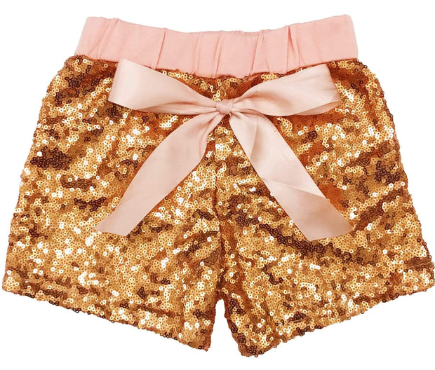 ILTEX Apparel Kids Clothing Sequin Shorts Kids - Peach