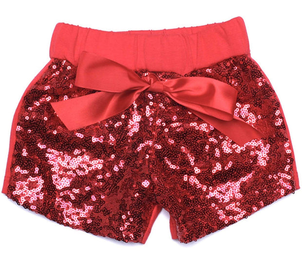 ILTEX Apparel Kids Clothing Sequin Shorts Kids - Red