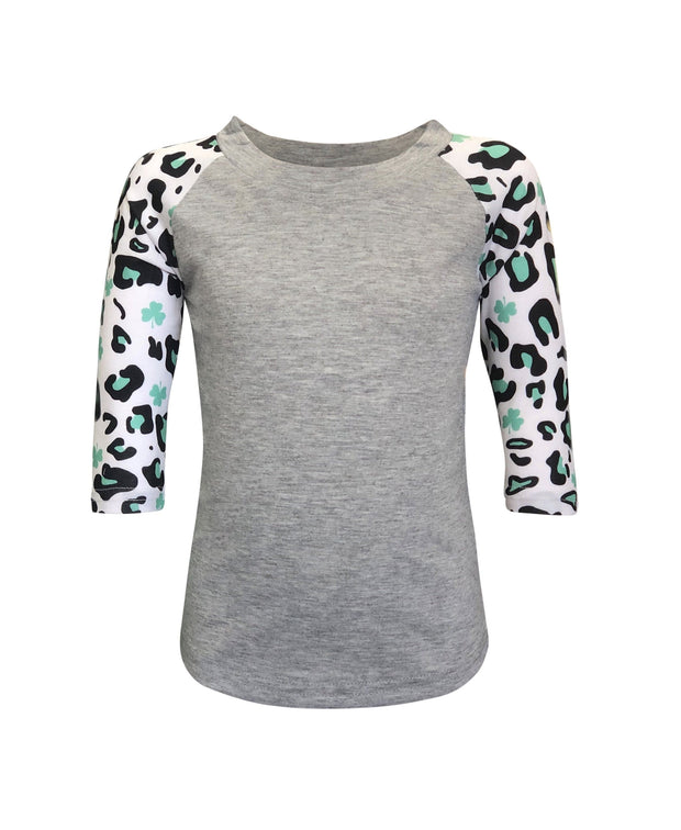 ILTEX Apparel Kids Clothing Shamrock Cheetah St. Patricks Polyester Top Kids