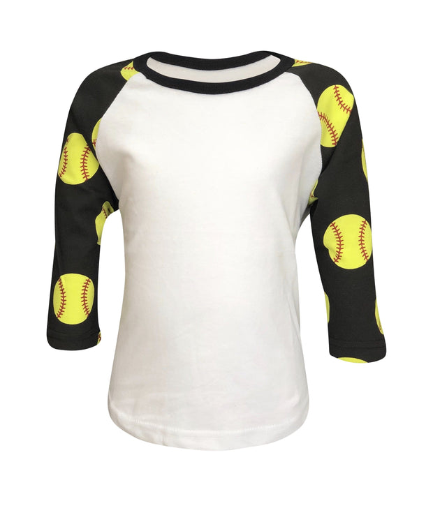 ILTEX Apparel Kids Clothing Softball Print Raglan Kids