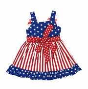 ILTEX Apparel Kids Clothing Star Striped Dress Red White Blue Kids