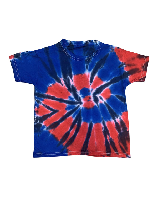 ILTEX Apparel Kids Clothing Tie Dye Patriotic Red Blue White T-Shirt Youth