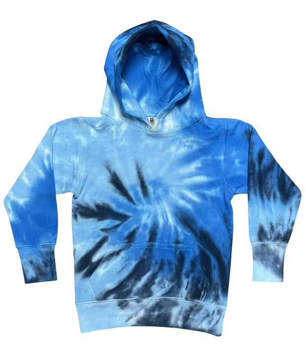 ILTEX Apparel Kids Clothing Tie Dye Youth Blue Spiral Heavyweight Hoodie