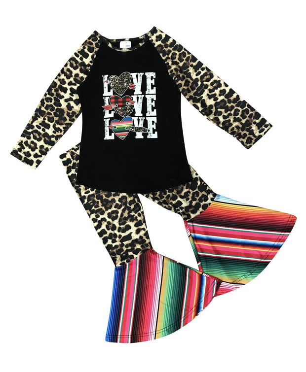 ILTEX Apparel Kids Clothing Valentine Cheetah Serape Set Kids
