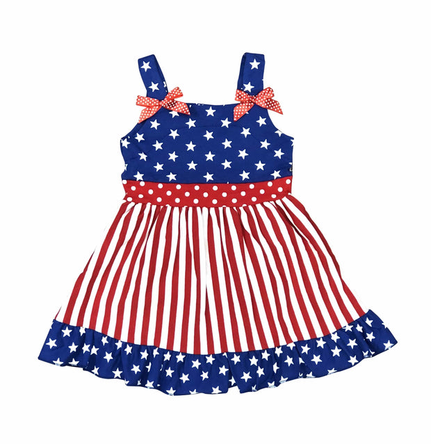 ILTEX Apparel Kids Clothing XS Star Striped Dress Red White Blue Kids