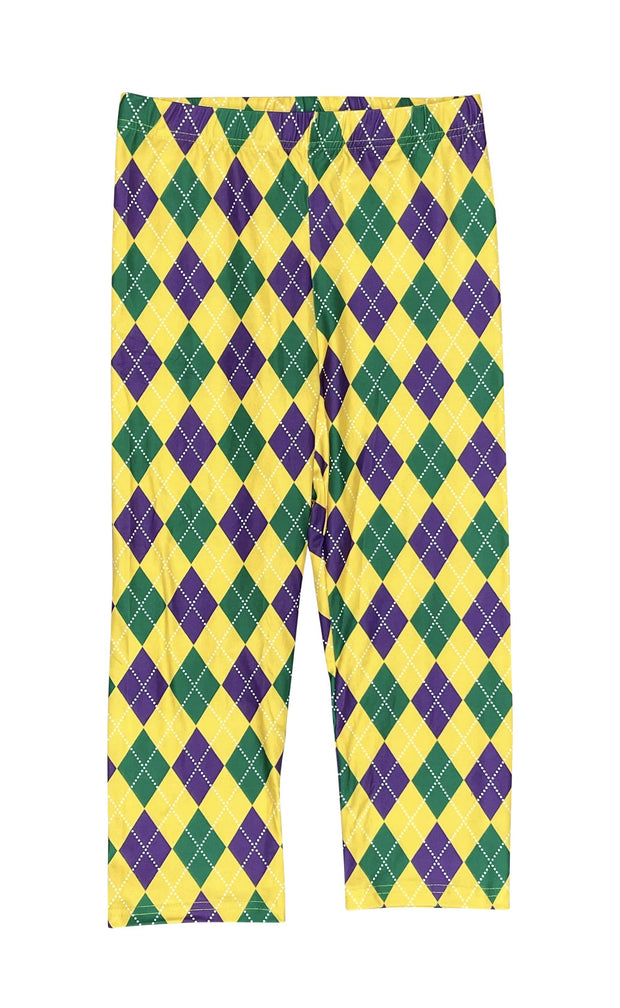 ILTEX Apparel Mardi Gras Harlequin Diamond Leggings Adult