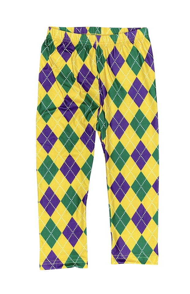 ILTEX Apparel Mardi Gras Harlequin Diamond Leggings Kids