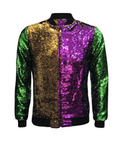 ILTEX Apparel Mardi Gras Sequin Bomber Jacket