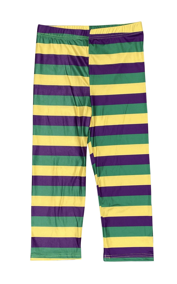 ILTEX Apparel Mardi Gras Striped Leggings Adult