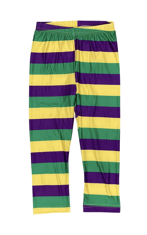 ILTEX Apparel Mardi Gras Striped Leggings Kids