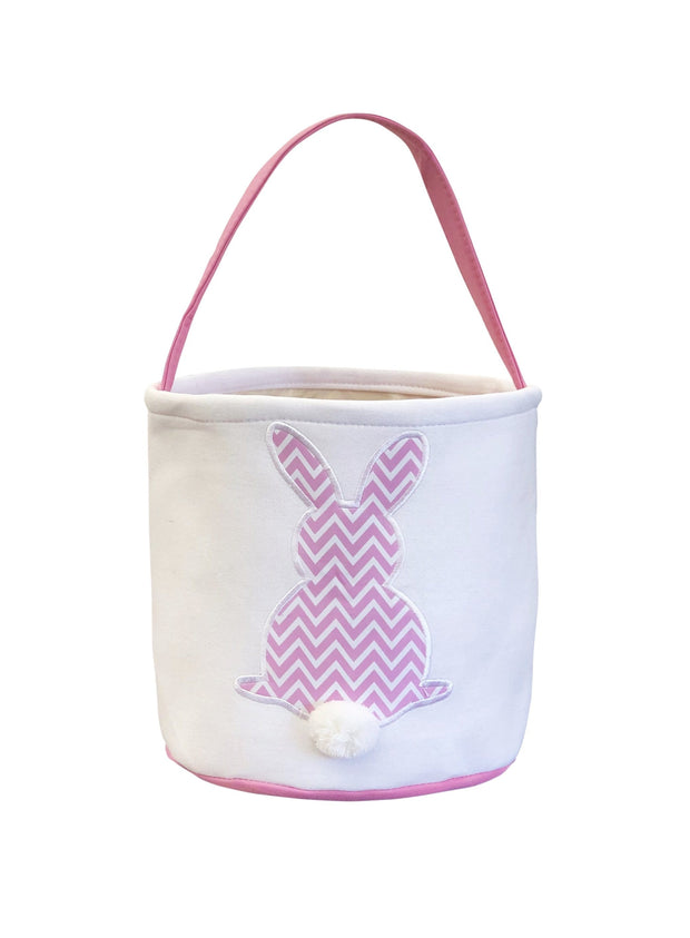 ILTEX Apparel Pink Easter Light Chevron Bunny Cotton Tail Basket