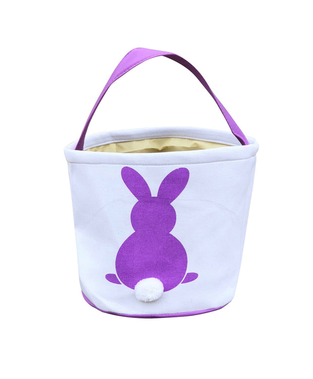 ILTEX Apparel Purple Easter Bunny Cotton Tail Basket