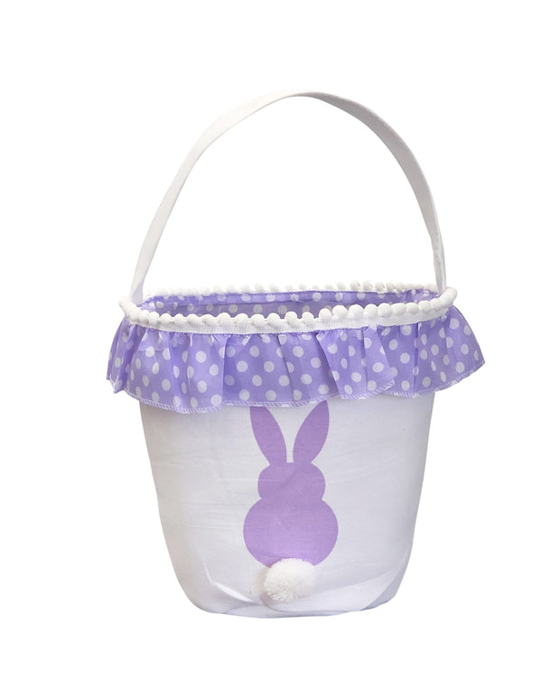 ILTEX Apparel Purple Easter Bunny Frill Cotton Tail Basket