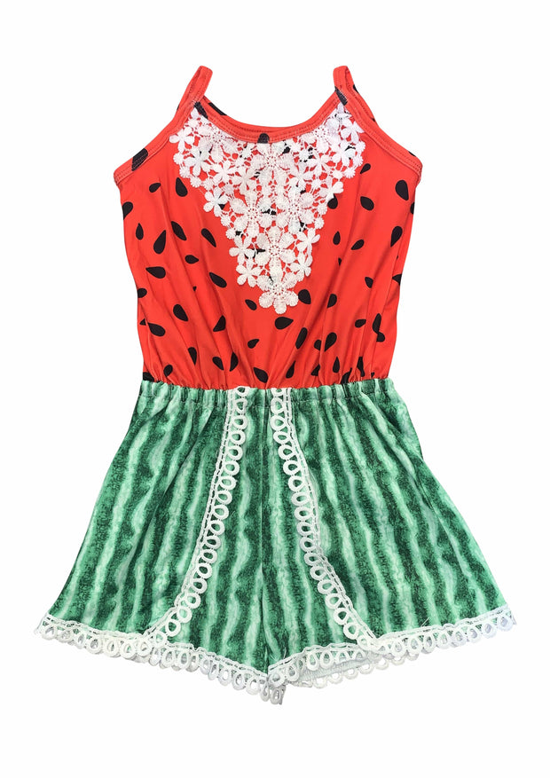 ILTEX Apparel Romper Romper Lace Kids Watermelon