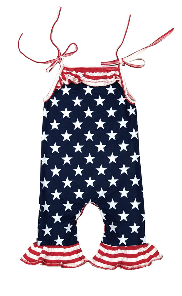 ILTEX Apparel Romper Romper Strings Kids July 4th Stars
