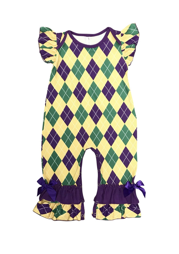 ILTEX Apparel Romper Romper Strings Kids Mardi Gras