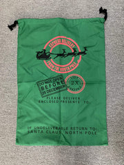 ILTEX Apparel Santa Sack - Green Reindeer