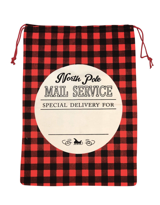 ILTEX Apparel Santa Sack - Red Plaid