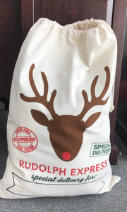 ILTEX Apparel Santa Sack - Rudolph Express