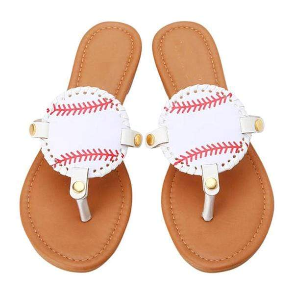 ILTEX Apparel Shoes Sandals Women Baseball Flip Flops