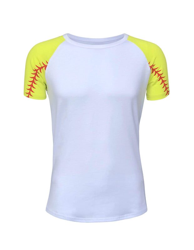 ILTEX Apparel Softball Raglan Short Sleeve Tee