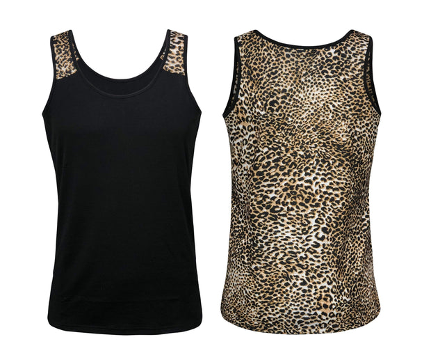 ILTEX Apparel Tank tops Black Cheetah Tank Top