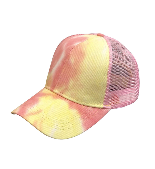 ILTEX Apparel Tie Dye Pink Yellow Cap