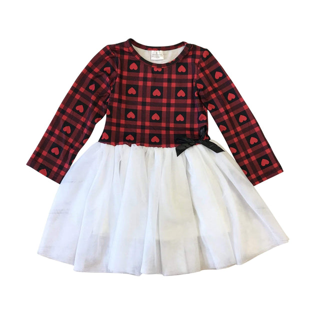 ILTEX Apparel Valentine Heart Tutu Dress Kids