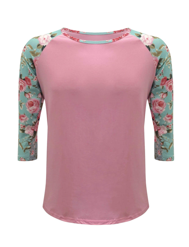 ILTEX Apparel Women's Clothing Floral Pink Top Adult