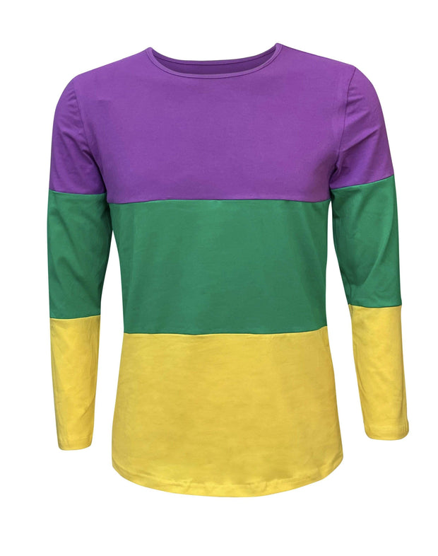 ILTEX Apparel Women's Clothing Mardi Gras Color Block Top