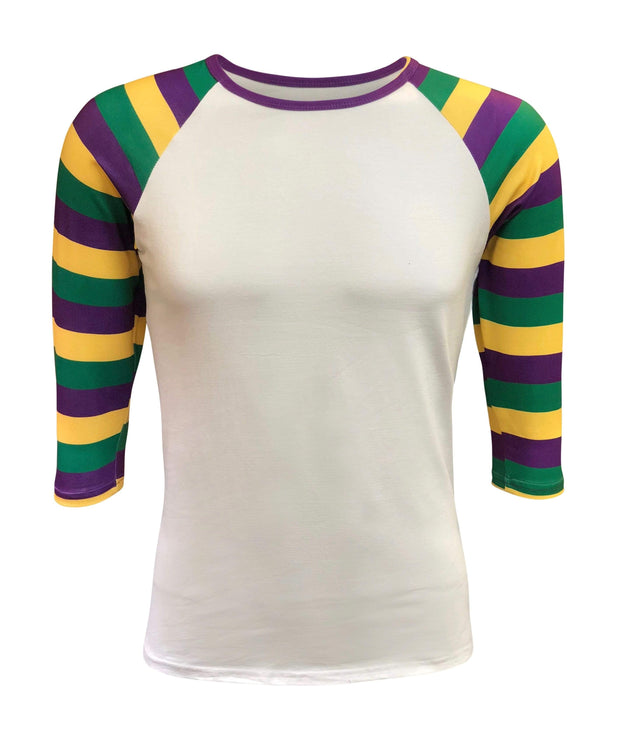 ILTEX Apparel Women's Clothing Mardi Gras White Top