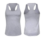 ILTEX Apparel Women's Clothing Small / Heather Gray Racerback Basic Women Tank Top