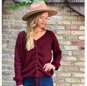 Cinch Sweater [burgundy]
