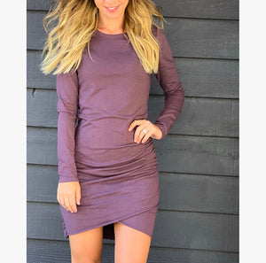 Fall Ruched Dress