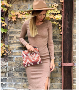 Tawny Button Dress