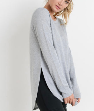 Lounge Slit Top [grey]