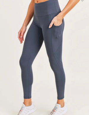 High Rise Legging [blue grey]