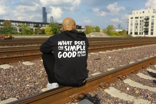 'What Does The Simple Good Mean To You' Unisex Zip Hoodie