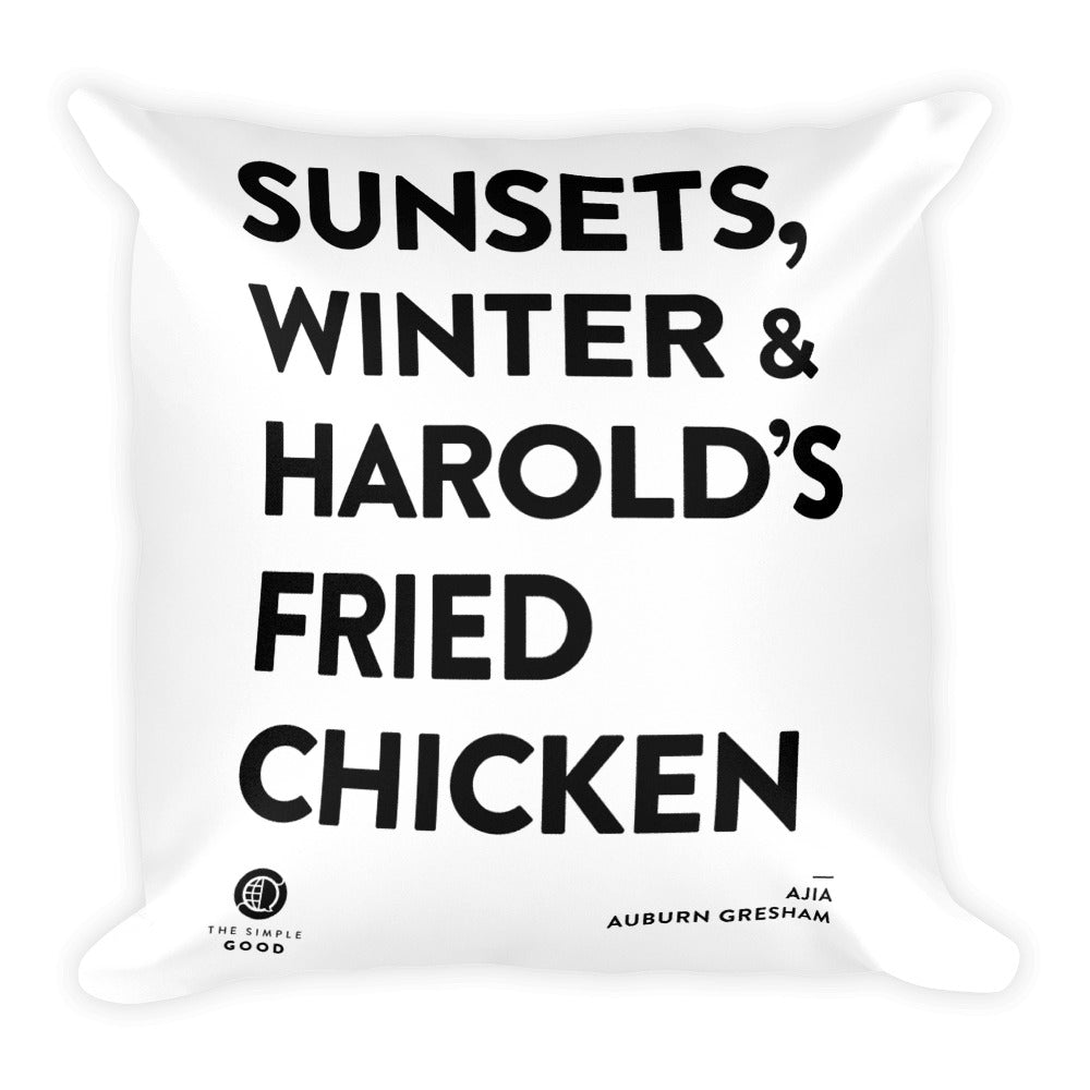 'Fried Chicken in Auburn Gresham' Throw Pillow