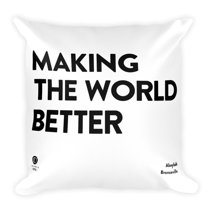 'Better World' Throw Pillow