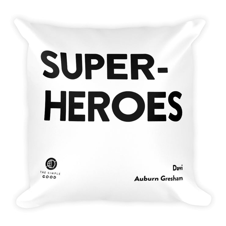 'Superheroes' Throw Pillow
