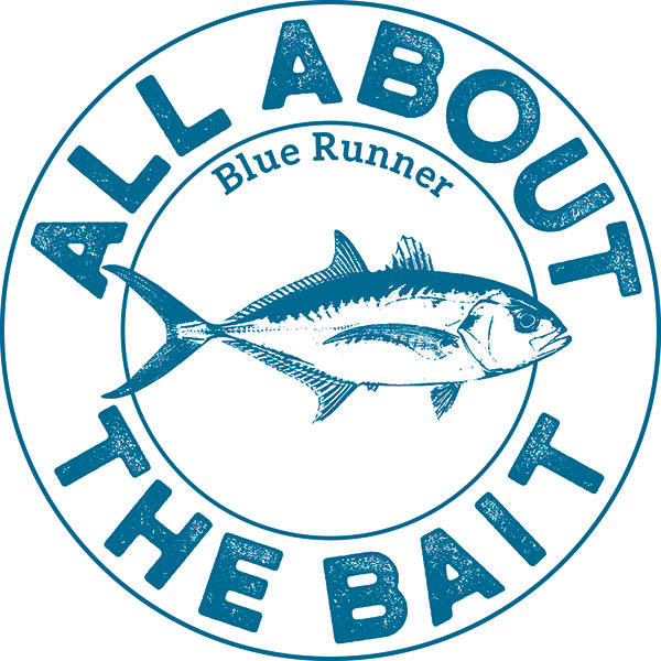 All About The Bait Blue Runner Sticker