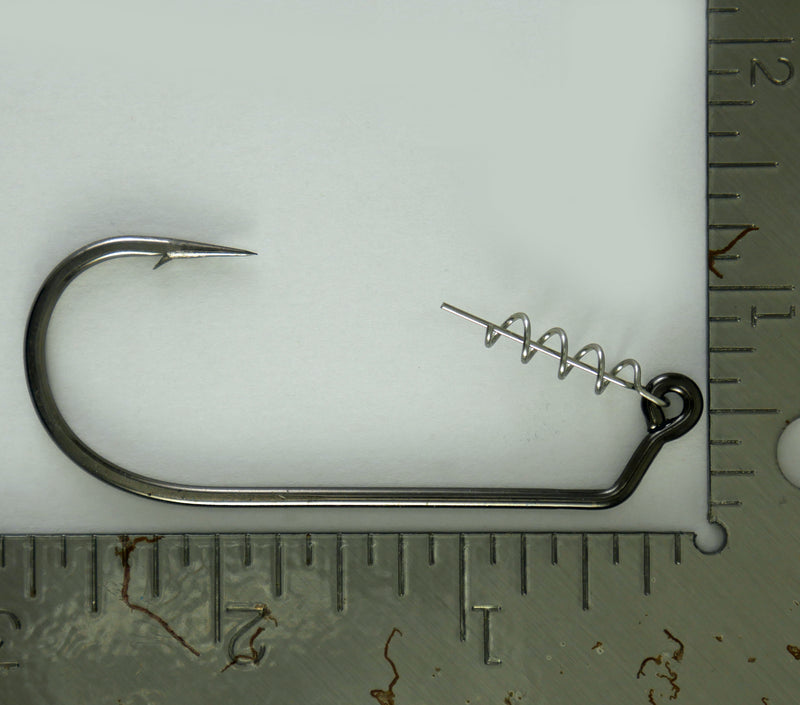 Swimbait Rigging Kit: Mustad 2X Strong Jig Hook w/ Twist Lock Corkscrew Bait Keeper