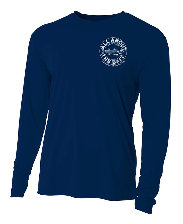 Mullet - Navy Blue - 100% Micro Fiber Polyester Performance Long Sleeve Shirt  (FREE SHIPPING)