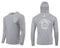 (FREE MASK) MULLET CAST NET HOODED - MID GRAY - 50+ UPF - Long Sleeve Performance Shirt - 100% Polyester - FREE DELIVERY