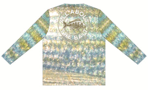 (Small LAST ONE) Pinfish Bait Skins - COOLMAX - 100% Micro Fiber Polyester Performance Long Sleeve Shirt (FREE SHIPPING)